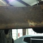 Interesting paint mark along the front subframe rail